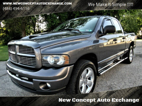 2004 Dodge Ram Pickup 1500 for sale at New Concept Auto Exchange in Glenolden PA