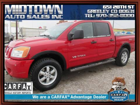 2012 Nissan Titan for sale at MIDTOWN AUTO SALES INC in Greeley CO