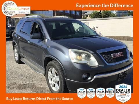 2012 GMC Acadia for sale at Dallas Auto Finance in Dallas TX
