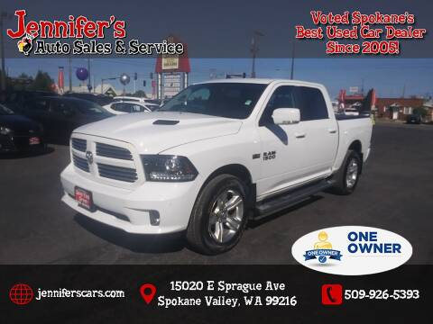 2016 RAM Ram Pickup 1500 for sale at Jennifer's Auto Sales in Spokane Valley WA