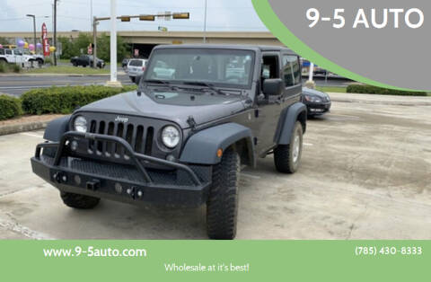 2016 Jeep Wrangler for sale at 9-5 AUTO in Topeka KS