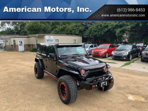 2016 Jeep Wrangler Unlimited for sale at American Motors, Inc. in Farmington MN