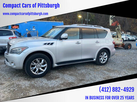 2011 Infiniti QX56 for sale at Compact Cars of Pittsburgh in Pittsburgh PA