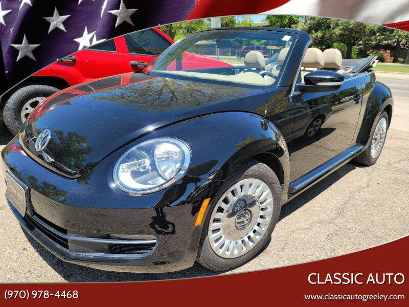 2013 Volkswagen Beetle Convertible for sale at Classic Auto in Greeley CO
