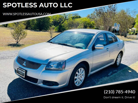 2011 Mitsubishi Galant for sale at SPOTLESS AUTO LLC in San Antonio TX