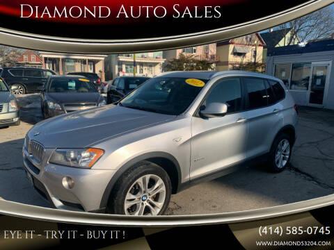 2012 BMW X3 for sale at Diamond Auto Sales in Milwaukee WI