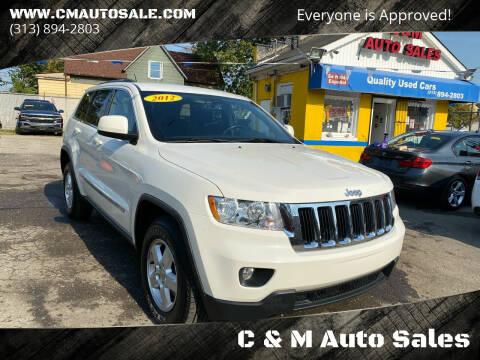 2012 Jeep Grand Cherokee for sale at C & M Auto Sales in Detroit MI