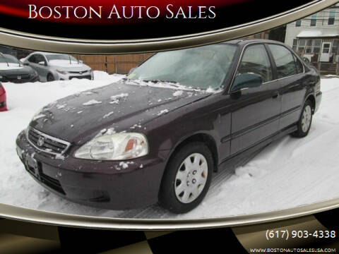2000 Honda Civic for sale at Boston Auto Sales in Brighton MA