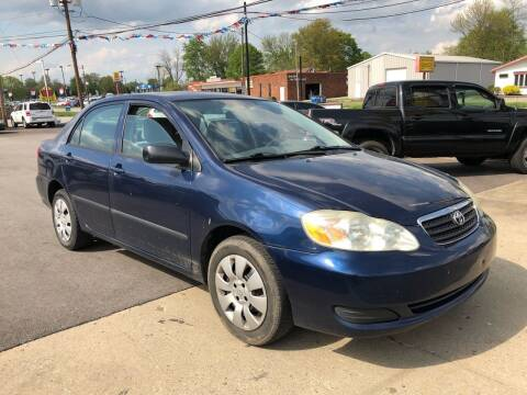 2005 Toyota Corolla for sale at Wise Investments Auto Sales in Sellersburg IN