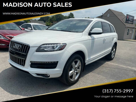 2014 Audi Q7 for sale at MADISON AUTO SALES in Indianapolis IN