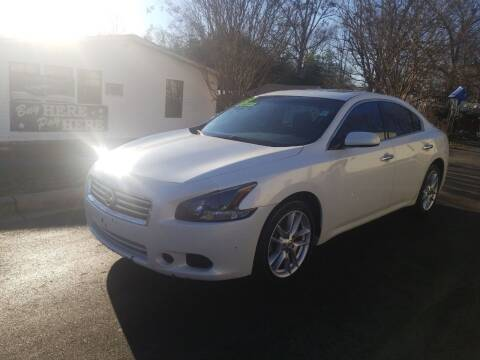 2013 Nissan Maxima for sale at TR MOTORS in Gastonia NC
