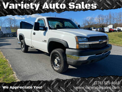 2003 Chevrolet Silverado 2500HD for sale at Variety Auto Sales in Abingdon VA