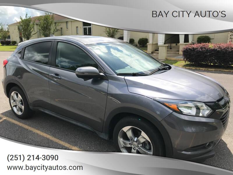 2017 Honda HR-V for sale at Bay City Auto's in Mobile AL