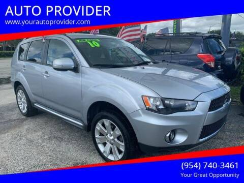 2010 Mitsubishi Outlander for sale at AUTO PROVIDER in Fort Lauderdale FL