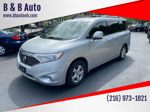 2013 Nissan Quest for sale at B & B Auto in Cleveland OH