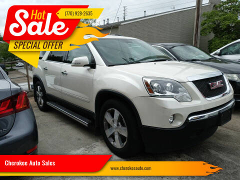 2012 GMC Acadia for sale at Cherokee Auto Sales in Acworth GA