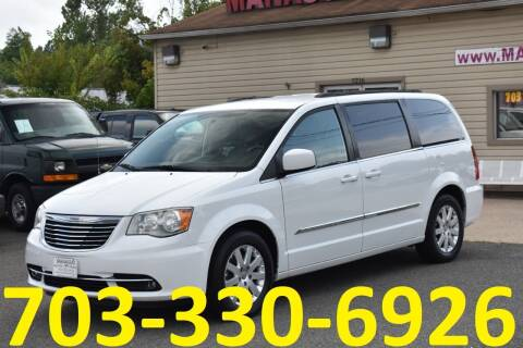 2014 Chrysler Town and Country for sale at MANASSAS AUTO TRUCK in Manassas VA
