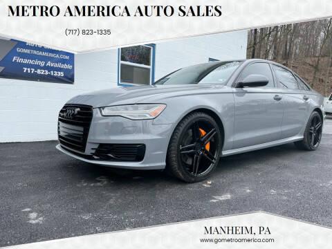 2016 Audi A6 for sale at METRO AMERICA AUTO SALES of Manheim in Manheim PA