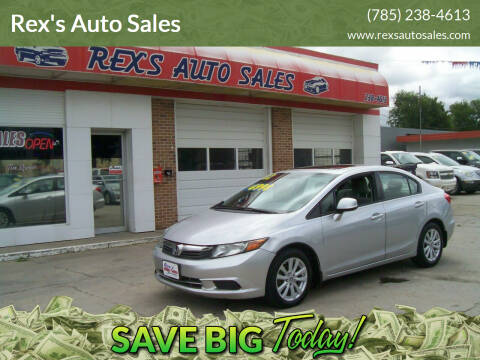 2012 Honda Civic for sale at Rex's Auto Sales in Junction City KS