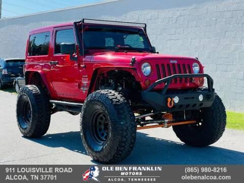 2013 Jeep Wrangler for sale at Ole Ben Franklin Motors-Mitsubishi of Alcoa in Alcoa TN