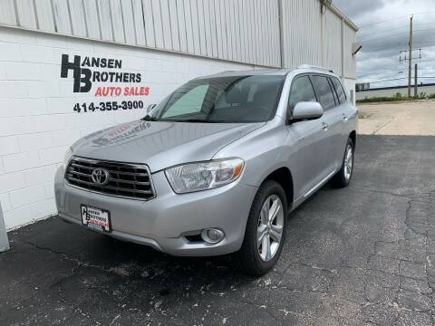 2008 Toyota Highlander for sale at HANSEN BROTHERS AUTO SALES in Milwaukee WI