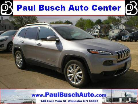 2017 Jeep Cherokee for sale at Paul Busch Auto Center Inc in Wabasha MN
