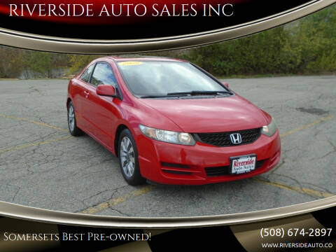 2009 Honda Civic for sale at RIVERSIDE AUTO SALES INC in Somerset MA