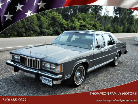 1986 Mercury Grand Marquis for sale at THOMPSON FAMILY MOTORS in Senecaville OH