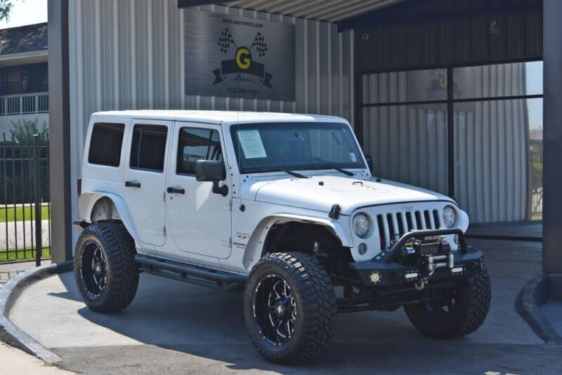 2017 Jeep Wrangler Unlimited for sale at G MOTORS in Houston TX