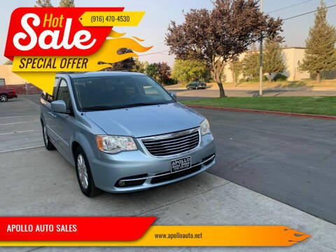 2013 Chrysler Town and Country for sale at APOLLO AUTO SALES in Sacramento CA