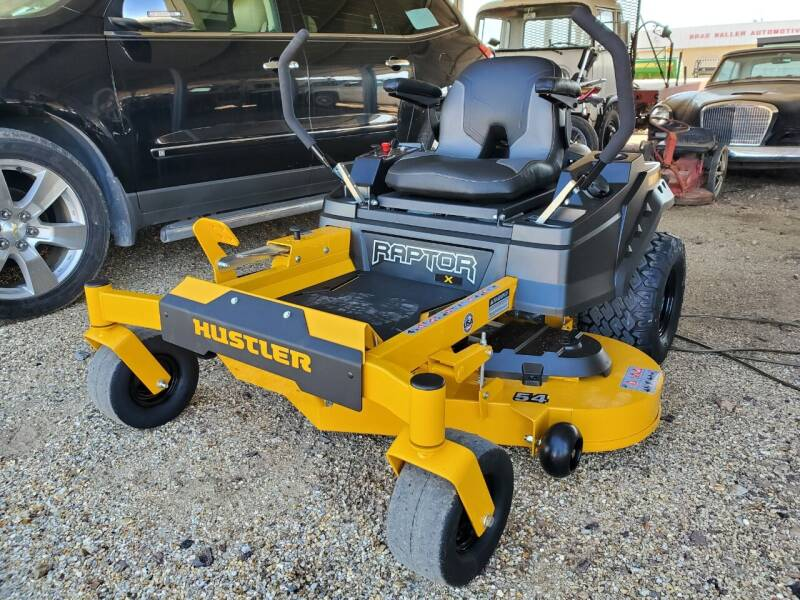"""2021 Hustler Raptor X 54"""" for sale at Brad Waller Automotive in Stockton KS"""