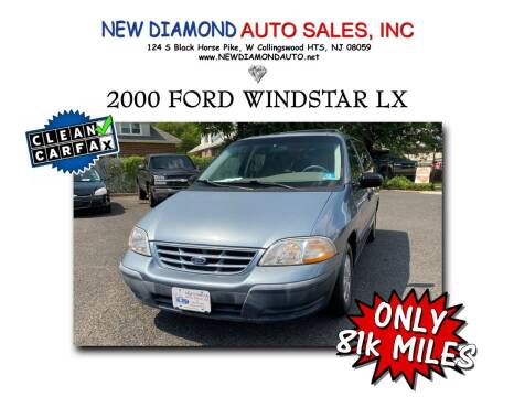 2000 Ford Windstar for sale at New Diamond Auto Sales, INC in West Collingswood Heights NJ