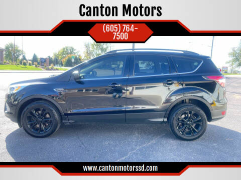 2017 Ford Escape for sale at Canton Motors in Canton SD
