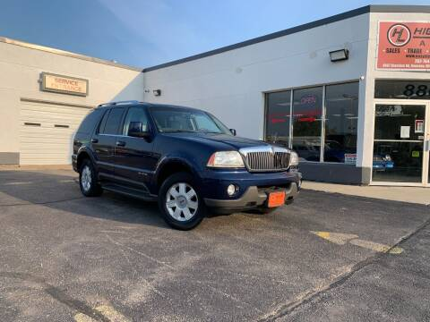 2004 Lincoln Aviator for sale at HIGHLINE AUTO LLC in Kenosha WI