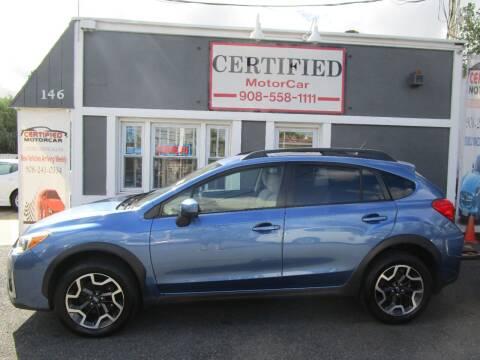 2017 Subaru Crosstrek for sale at CERTIFIED MOTORCAR LLC in Roselle Park NJ