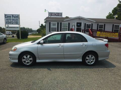 2006 Toyota Corolla for sale at Cove Point Auto Sales in Joppa MD