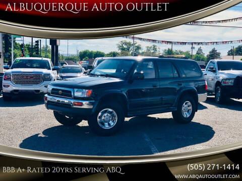 1998 Toyota 4Runner for sale at ALBUQUERQUE AUTO OUTLET in Albuquerque NM