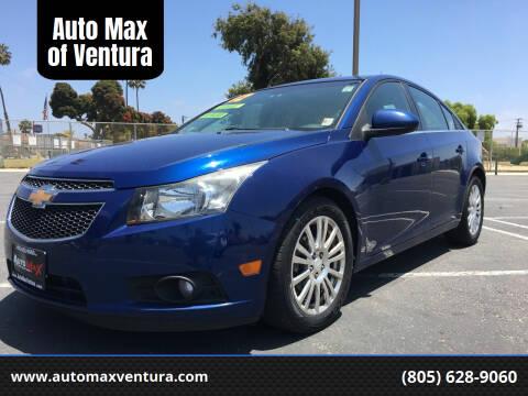 2012 Chevrolet Cruze for sale at Auto Max of Ventura in Ventura CA