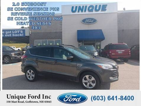 2016 Ford Escape for sale at Unique Motors of Chicopee - Unique Ford in Goffstown NH