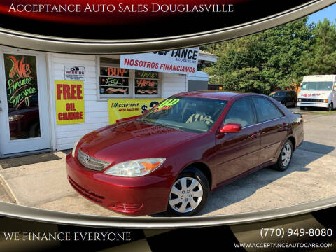 2002 Toyota Camry for sale at Acceptance Auto Sales Douglasville in Douglasville GA