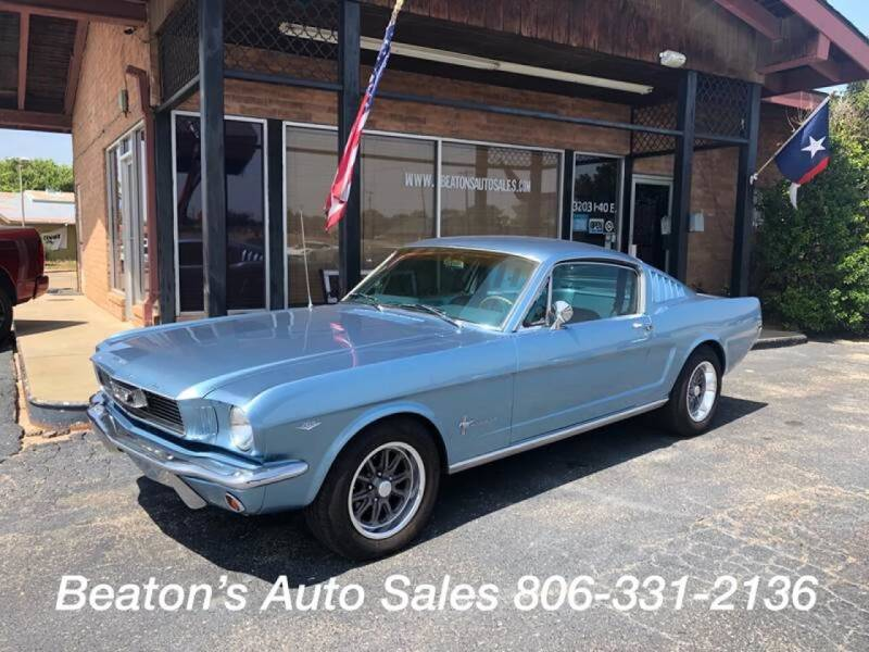 1966 Ford Mustang for sale at Beaton's Auto Sales in Amarillo TX