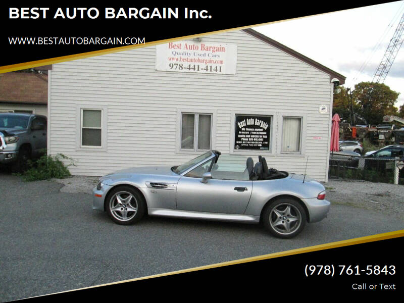 2000 BMW Z3 for sale at BEST AUTO BARGAIN inc. in Lowell MA