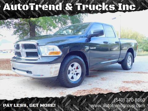 2009 Dodge Ram Pickup 1500 for sale at AutoTrend & Trucks Inc in Fredericksburg VA