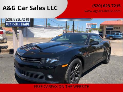 2015 Chevrolet Camaro for sale at A&G Car Sales  LLC in Tucson AZ