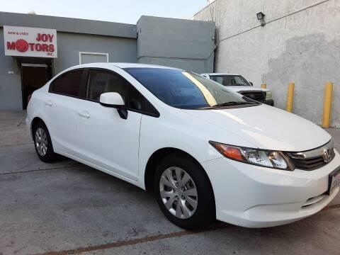 2012 Honda Civic for sale at Joy Motors in Los Angeles CA