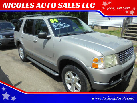 2004 Ford Explorer for sale at NICOLES AUTO SALES LLC in Cream Ridge NJ