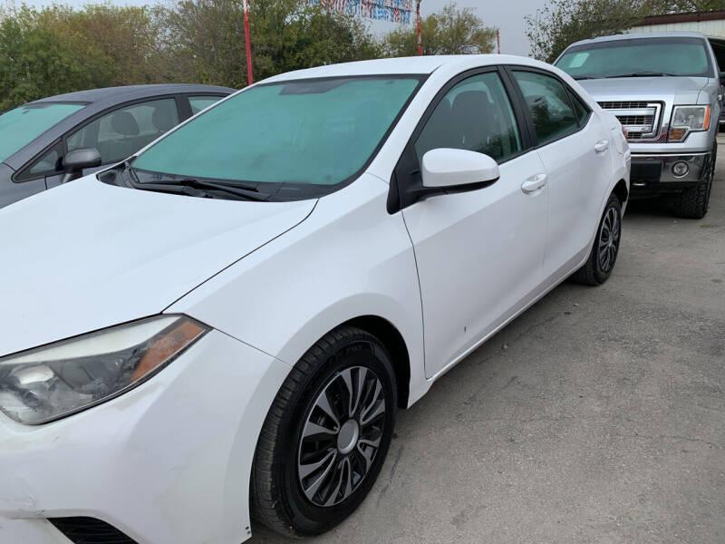 2014 Toyota Corolla for sale at BULLSEYE MOTORS INC in New Braunfels TX