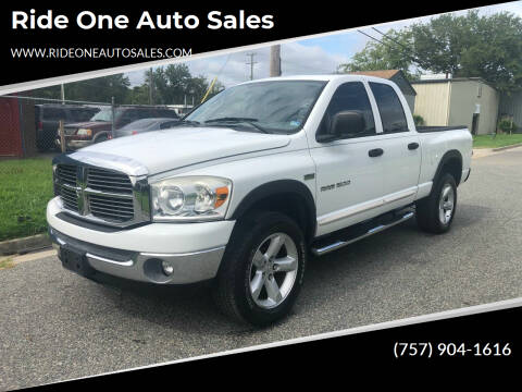 2007 Dodge Ram Pickup 1500 for sale at Ride One Auto Sales in Norfolk VA