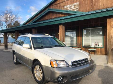 2002 Subaru Outback for sale at Coeur Auto Sales in Hayden ID