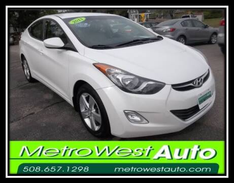 2013 Hyundai Elantra for sale at Metro West Auto in Bellingham MA